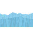 seamless mountains in cartoon style vector image