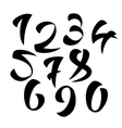 Set of Calligraphic Ink Numbers Design vector image