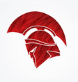 spartan warrior helmet weapon head roman fighter vector image vector image