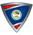 Steel shield with flag belize vector | Price: 1 Credit (USD $1)