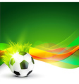 stylish football design vector image vector image