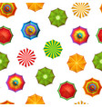 summer beach umbrellas pattern vector image vector image