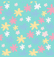 summer seamless pattern with daisy flowers pink vector image vector image