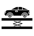 suspension - car service icon vector image vector image