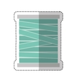 Thread roll isolated icon vector image