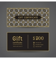 Vintage Gift Certificate vector image vector image