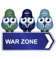WAR ZONE SIGN vector image