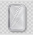 white empty plastic container for food vector image vector image