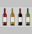 wine bottles isolated on transparent background vector image vector image