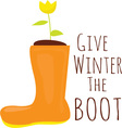 Winter The Boot vector image