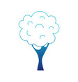 blue silhouette nature tree with trunk and branch vector image