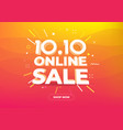 1010 online shopping day sale poster or flyer vector image vector image