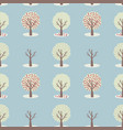 4 seasons tree set seamless repeat pattern vector image