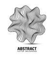abstract wavy stripes shape logo beautiful vector image