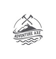 adventure axe emblem logo vector image
