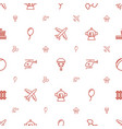 air icons pattern seamless white background vector image vector image