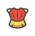ancient red body armor cartoon vector image vector image
