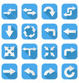 arrows set collection of blue icons with web vector image