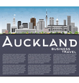 Auckland Skyline with Gray Buildings vector image vector image