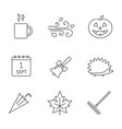 autumn season linear icons set vector image vector image