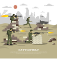 Battlefield Military Cinematic Experience Flat vector image vector image