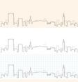 birmingham hand drawn skyline vector image vector image