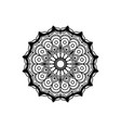 black silhouette abstract flower mandala vintage vector image vector image