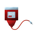 blood donation icon in flat grunge design donor vector image