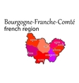 Bourgogne-Franche-Comte french region map vector image vector image