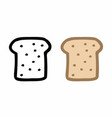 bread slices freehand vector image