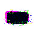 brush strokes banner with glitch rgb effect vector image vector image
