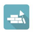 Building wall icon square vector image vector image