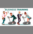 business people training concept vector image