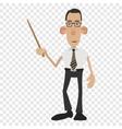 Cartoon male teacher vector image