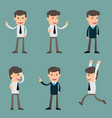 cartoon of a handsome young businessman in vector image vector image