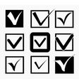 Check icons set vector image vector image