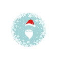 christmas card merry christmas and happy new year vector image vector image