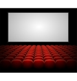 cinema auditorium with blank screen vector image vector image