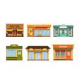 city buildings facades collection cafe vector image vector image