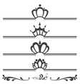 Collection of vintage text headers with crowns vector image vector image