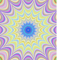 Colorful abstract star fractal background design vector image vector image