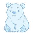 cute polar bear vector image vector image
