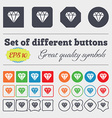 diamond icon sign Big set of colorful diverse vector image