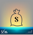 dollar money bag icon vector image