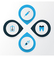 drug colorful icons set collection of syringe vector image