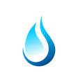 eco water drop abstract symbol logo design vector image