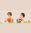 envy of woman on diet vector image