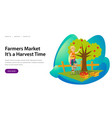 farmers market its harvesting time banner vector image vector image