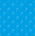 fork pattern seamless blue vector image