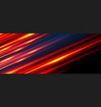 glowing line banner gaming background light vector image